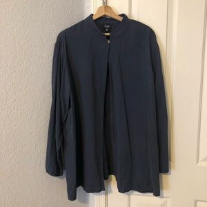 Eileen Fisher Steel Blue Open Cardigan Size 2X